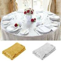 Rectangle Sequin Glitter Tablecloth Table Cloth Cover Wedding Party 100*150CM