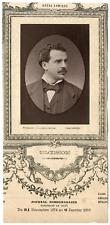 Lemercier, Paris, baryton, Opéra-Comique, Léon Melchissédec (1843-1925) Vintage