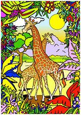 Tableau à colorier en velours - GIRAFE - Neuf