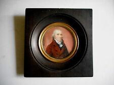 MINIATURE ANCIENNE.Jean-Baptiste Sambat.1760-1827.Portrait de François Seguy.