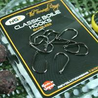 NGT Classic Boilie Hook Barbless Carp Fishing Hooks Size 8 or 6