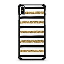 Gold Milky Way Star Filled Stripes Mixed Black White 2D Phone Case Cover