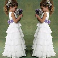 New Flower Girls Princess Pageant Dress Wedding Bridesmaid Party Communion Tutu