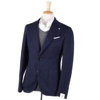 NWT $895 L.B.M. 1911 Midnight Blue Patterned Wool-Blend Sport Coat Slim 38 R
