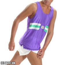 NEW SMALL Mens Shiny Viga NYLON Running Shorts Vest SET Run Sports Gym VTG TV67S
