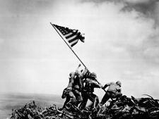 WWII Photo Flag Raising on Mount Surabachi, WW2 USMC World War Two US Marines