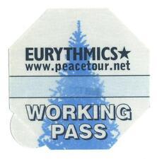 Eurythmics - Peacetour - Konzert-Satin-Pass Working - Schönes Sammlerstück
