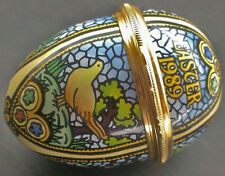 Halcyon Days Enamel Annual Easter Egg Dated 1989 New In Box W/ Brochures