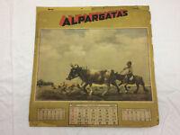 Vintage 1945 Calendar Alpargatas Art By F Molina Campos Horses Animals