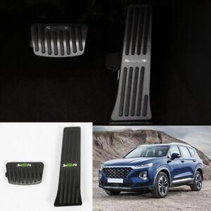 For Hyundai Santa Fe 2019-2020 black Aluminum Brake Pedal+Accelerator Pedal trim