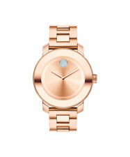 MOVADO BOLD 3600086 Rose Gold Stainless Steel Crystal Dot 36mm Ladies Watch