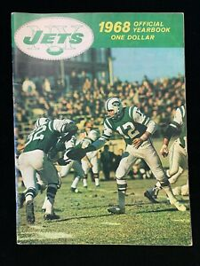 1968 New York Jets Yearbook With Joe Namath Front Cover EX
