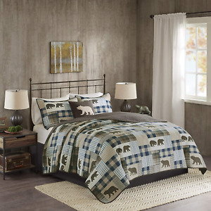 Woolrich Reversible Quilt Cabin Lifestyle Design All Season, Breathable Coverlet
