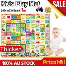 OZ 1.9mx1.8m XXL Nontoxic Baby Kids Play Mat Floor Rug Picnic Cushion Crawling