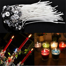 50pcs Candle Wick Cotton Core Waxed W/ Sustainers Candle Mould For Candle Making