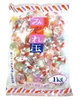 Matsuya, Mizoredama, Hard Candy, 6 kinds Flavor, Soda & Fruits, 1kg, Japan