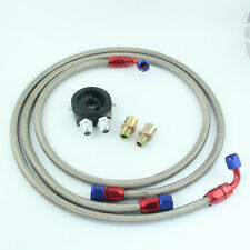 AN 8 Oil Cooler Filter Sandwich Plate Adapter + 1.4m 1.6m Hose Fitting Kits AU