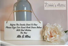 Wedding Day, Mr & Mrs Plaque, Guest Book, Handmade,Wooden,