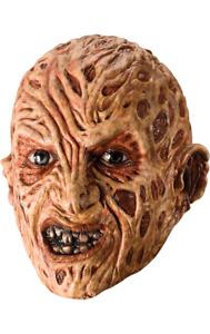 Adult Freddy Krueger Mask Nightmare Elm Street Halloween Fancy Dress Accessory