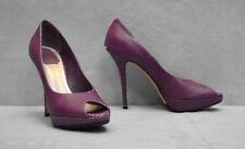 B4 CHRISTIAN DIOR Snake Embossed Leather Peep Toe Platform Pump Heel Shoes Sz 39