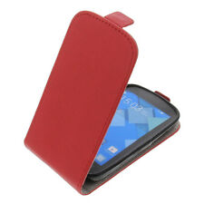 Funda para Alcatel one touch Pop C2 protectora Teléfono Móvil con tapa ROJO