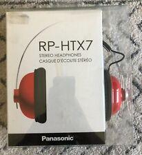 Panasonic RP-HTX7 Red Stereo Headphones
