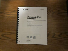 Sony RCD-W1 compact disc recorder operating instructions user manual