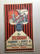 ORIGINAL VINTAGE 1941 THE HUDSON MACHINERY & SUPPLY CO. CATALOG