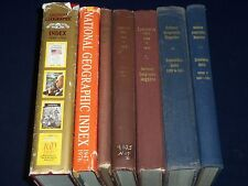 1888-1988 NATIONAL GEOGRAPHIC MAGAZINE INDEXES BOOK LOT OF 7 - PHOTOS - KD 1112