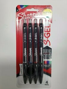 Sharpie PEN S-GEL 4 COLORS MED 0.7 BLACK,BLUE,RED,GREEN FREE SHIPPING!