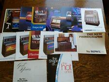 Vintage Rowe ami phonograph jukebox brochures sheets pamplet