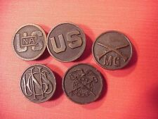 ORIGINAL WWI US LOT OF 5 DIFFERENT COLLAR DISKS