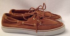 SPERRY Top-Sider Womens 8.5 M Brown Tan Boat Shoes Bahama 2-Eye Suede Leather