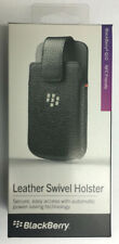 NEW NFC Friendly Blackberry Q10 Leather Swivel Holster Cover Carry Case Black