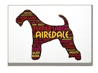Airedale Terrier Art Print Word Art A4 A3 Mothers Day Gift Personalised Option