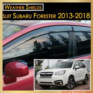 Weather shields Window Visor Weathershield tinted suit Subaru Forester 2013-2018