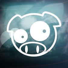 2x Scooby cerdo coche, furgoneta, ventana de parachoques, Jdm Dub Vag Drift Vinilo calcomanía de pegatinas