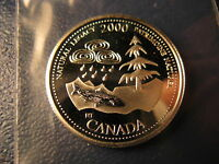 Canada Year 2000 Natural Legacy 25 Cent Mint Silver Coin.