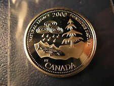 CANADA 2000 NATURAL LEGACY SILVER 25 CENT FROM MINT SET BEAUTY!