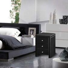 Tables de chevet et rangements noirs modernes pour la chambre à coucher