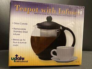 Update International (TPI-75) 0.75 Qt. Tea Pot w/ Infuser