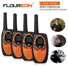 4PCS Walkie Talkie UHF 400-470MHZ 2-Way Radio 8CH Max 5km Long Range Interphone