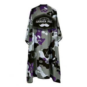 Barber Cloth Camouflage Pattern Hairdresser Apron Hair Cutting Gown Pro Salon+