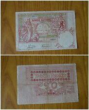 BANCONOTA BANQUE NATIONALE BRUXELLES BELGIQUE BELGIO 20 FRANCS FRANCHI 1953 P