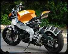 Honda CBR 1000F Custom Streetfighter A4 Metal Sign moto antigua añejada De