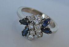 Stop☻0,35 ct Brillant Ring in aus 14k 585 Gold mit Safir Saphir Diamond Sapphire