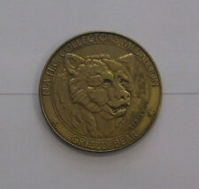 GRIZZLY BEAR GAME SERIES NORTH AMERICAN HUNT CLUB MEDALLION