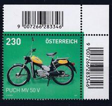 """Sondermarke Eckrand mit dem Puch """"Postlermoped"""" MV 50 V"""