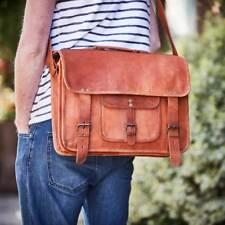 Leather Vintage Messenger Shoulder Men's Satchel Laptop Macbook Briefcase Bag