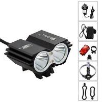 SolarStorm 6000lm 2x XML T6 LED Cycling Bicycle Bike light Headlight Headlamp